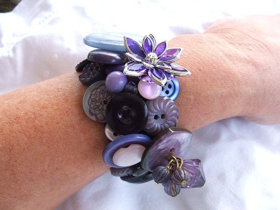 French Vintage Button Bracelet - Whispers of the Past