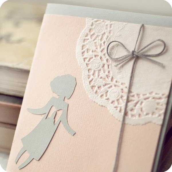 Little angel - papercut greeting card - 4 x 4,8 inches