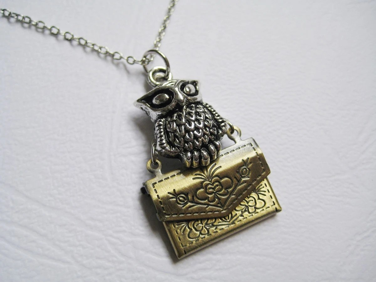 Owl Post Locket Necklace