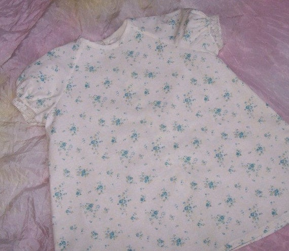 Shabby Chic Blue Roses Dress size 0-6 month