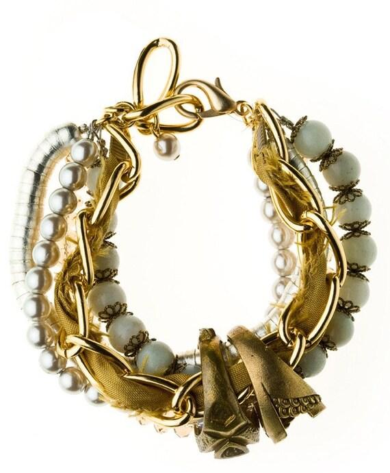 Spring Blossoms Gold Bracelet