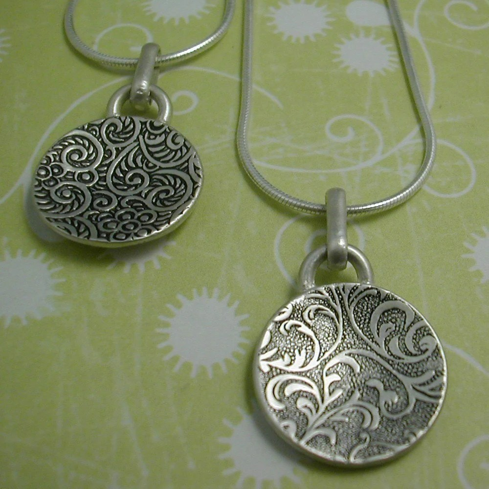Sterling Patterned Pendant