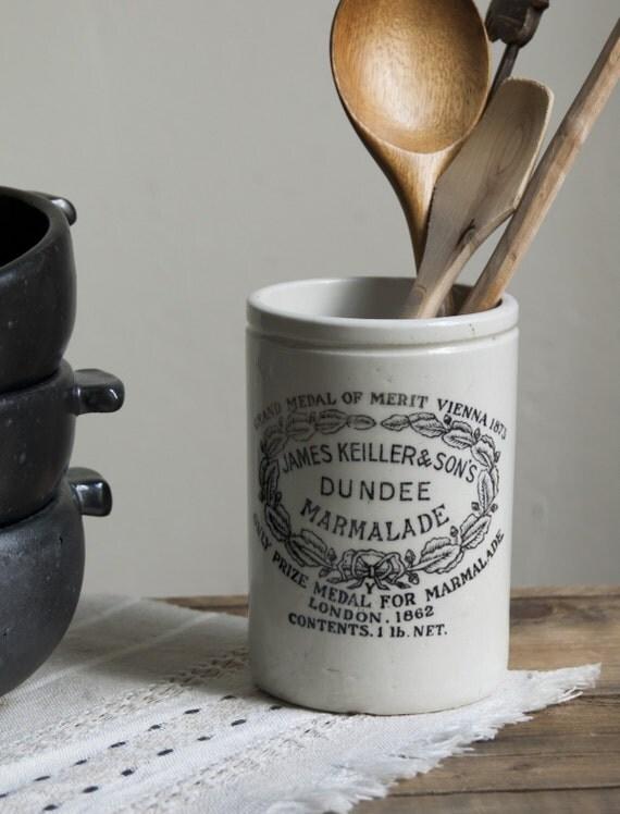 farmhouse basics. antique dundee marmalade pot