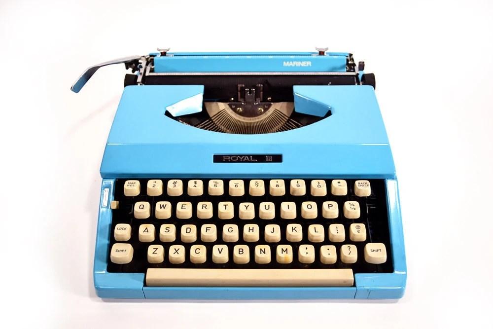 vintage royal mariner typewriter
