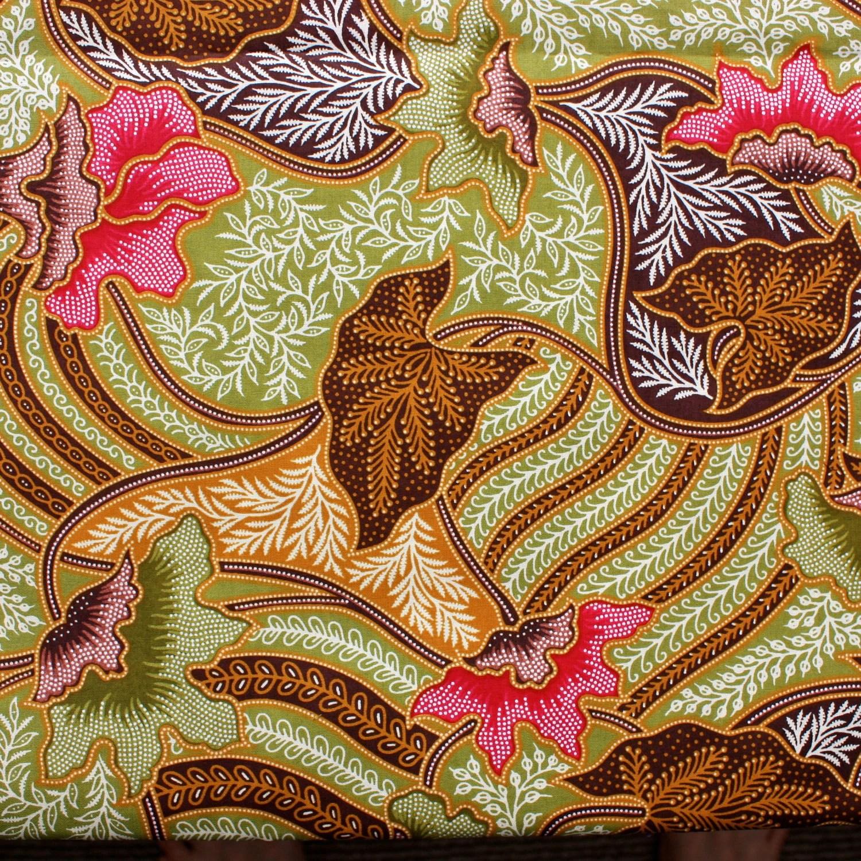 Vibrant Floral Batik Fabric