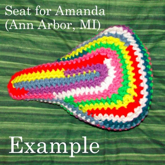Crocheted Bike Seat Cover (Custom)