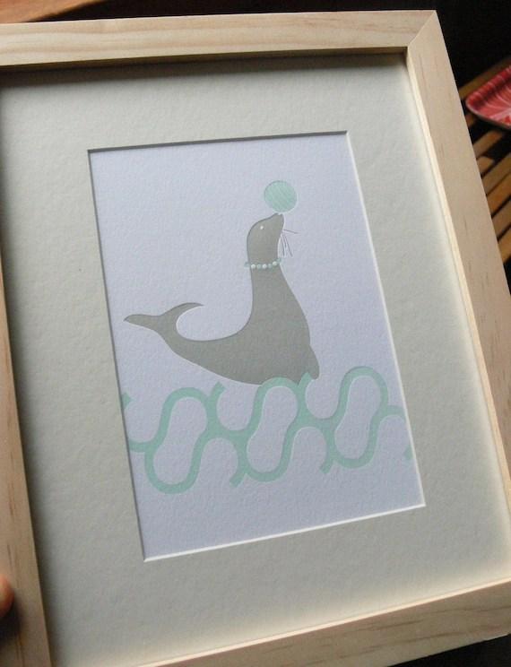 Letterpress Seal Print
