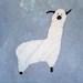 GOT FIBER unisex L blue batik alpaca tshirt