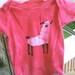 GOT FLEECE 6-9 mo LLAMA onesie fuchsia pink