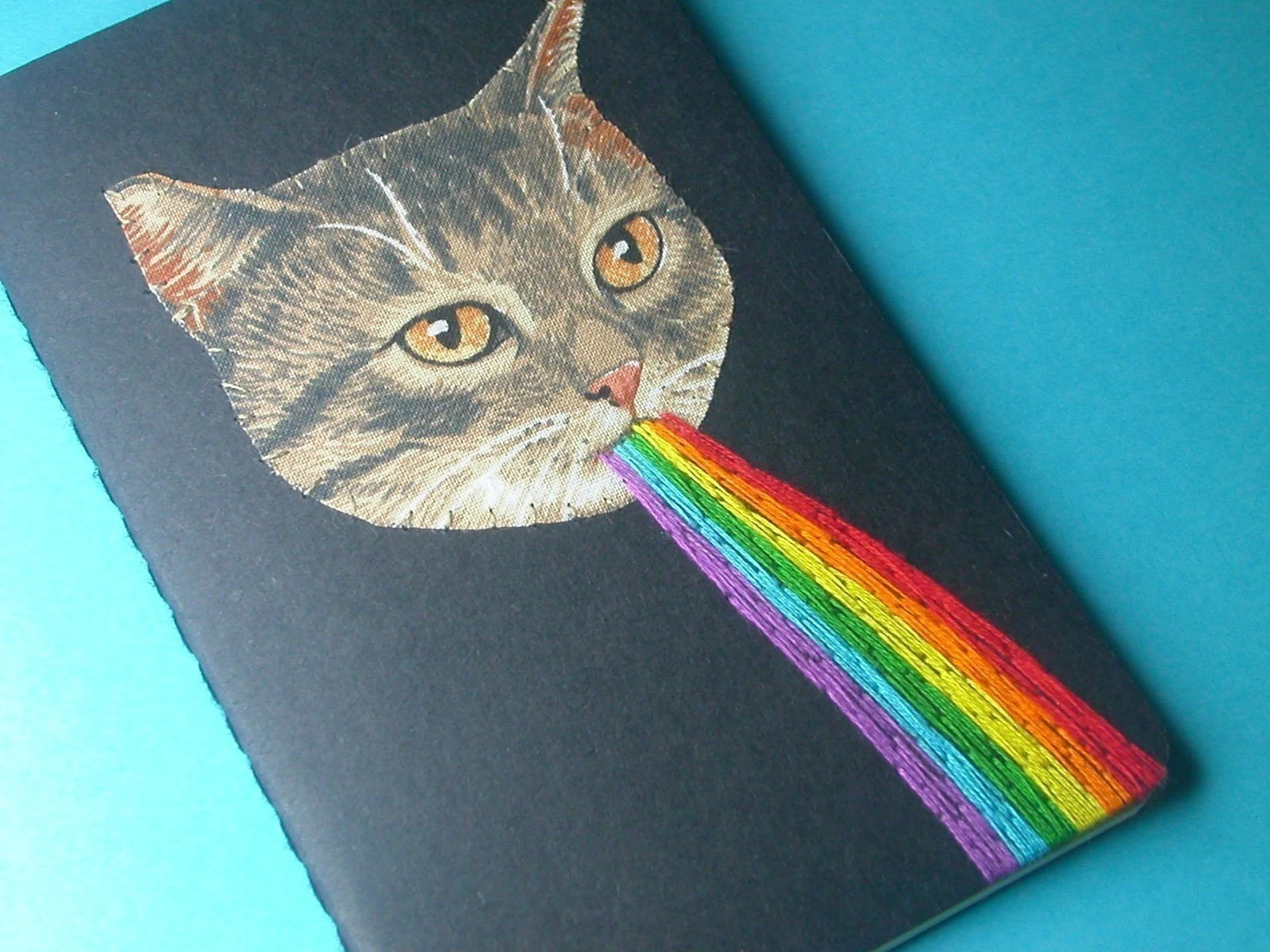 kitten awesome pocket journal