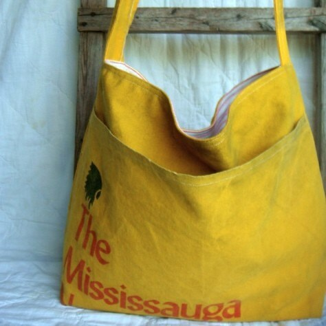 Vintage Mississauga News Sling Messenger/Tote