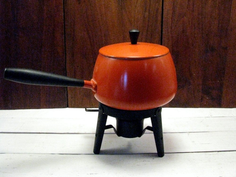 Orange 70s Fondue Pot