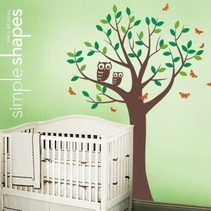 Owl Wall Sticker by Simple Shapes on Etsy