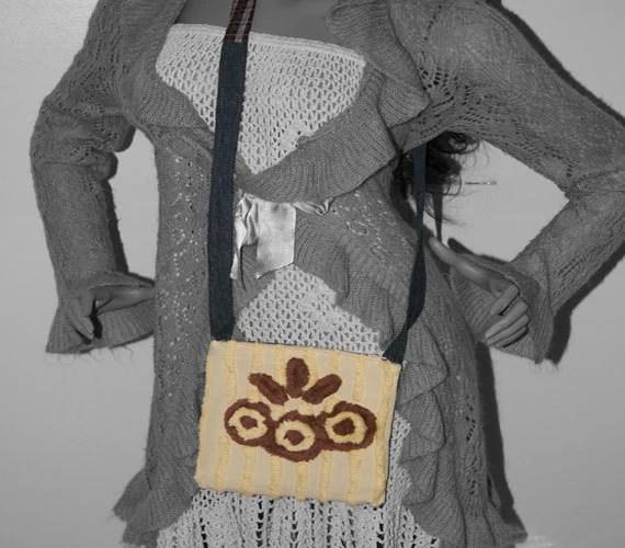 Vintage Chenille Hip Bag