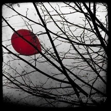Black, white, grey, red art
