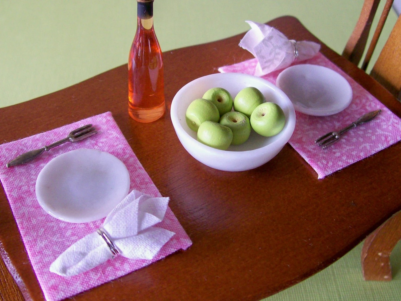 Miniature Table Linens