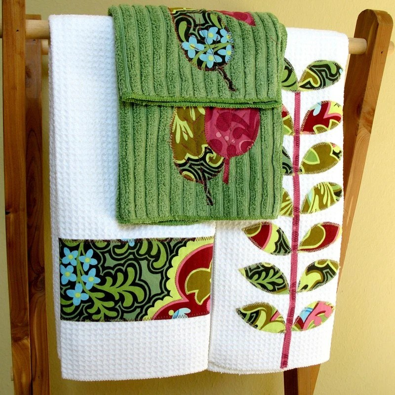 Standing Fern Towel and Dishcloth Gift Set