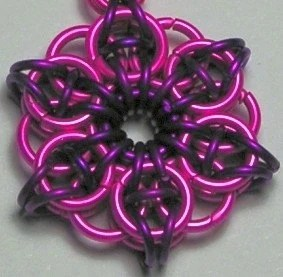 Handmade Key Chain - Rosie Posie