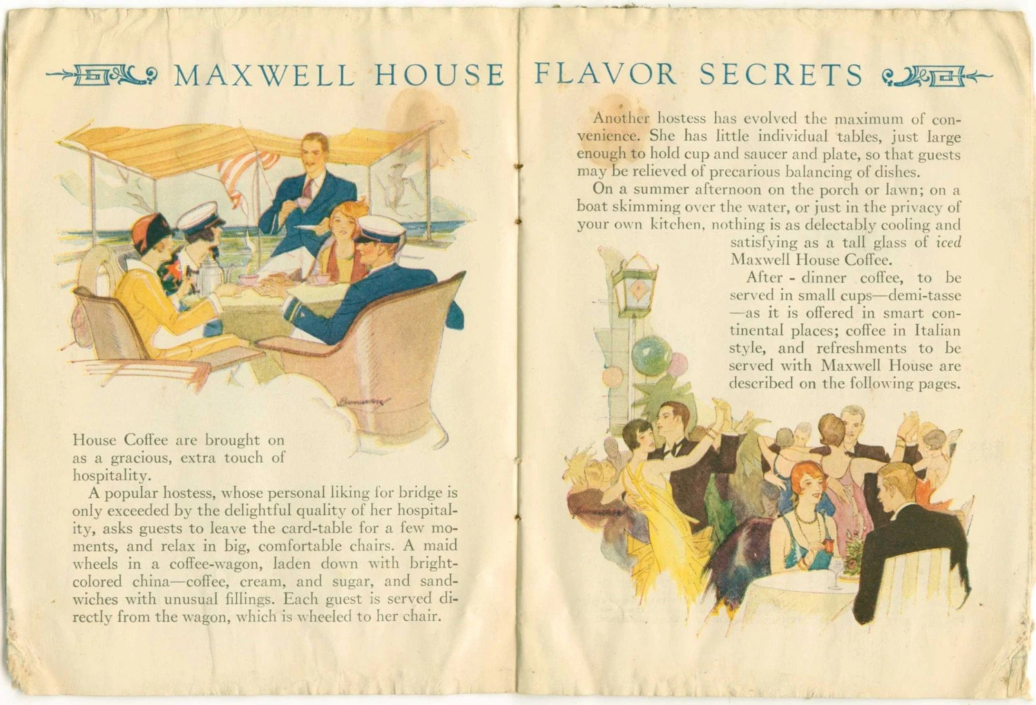 Vintage 1927 Secrets of Coffee Flavor pamphlet
