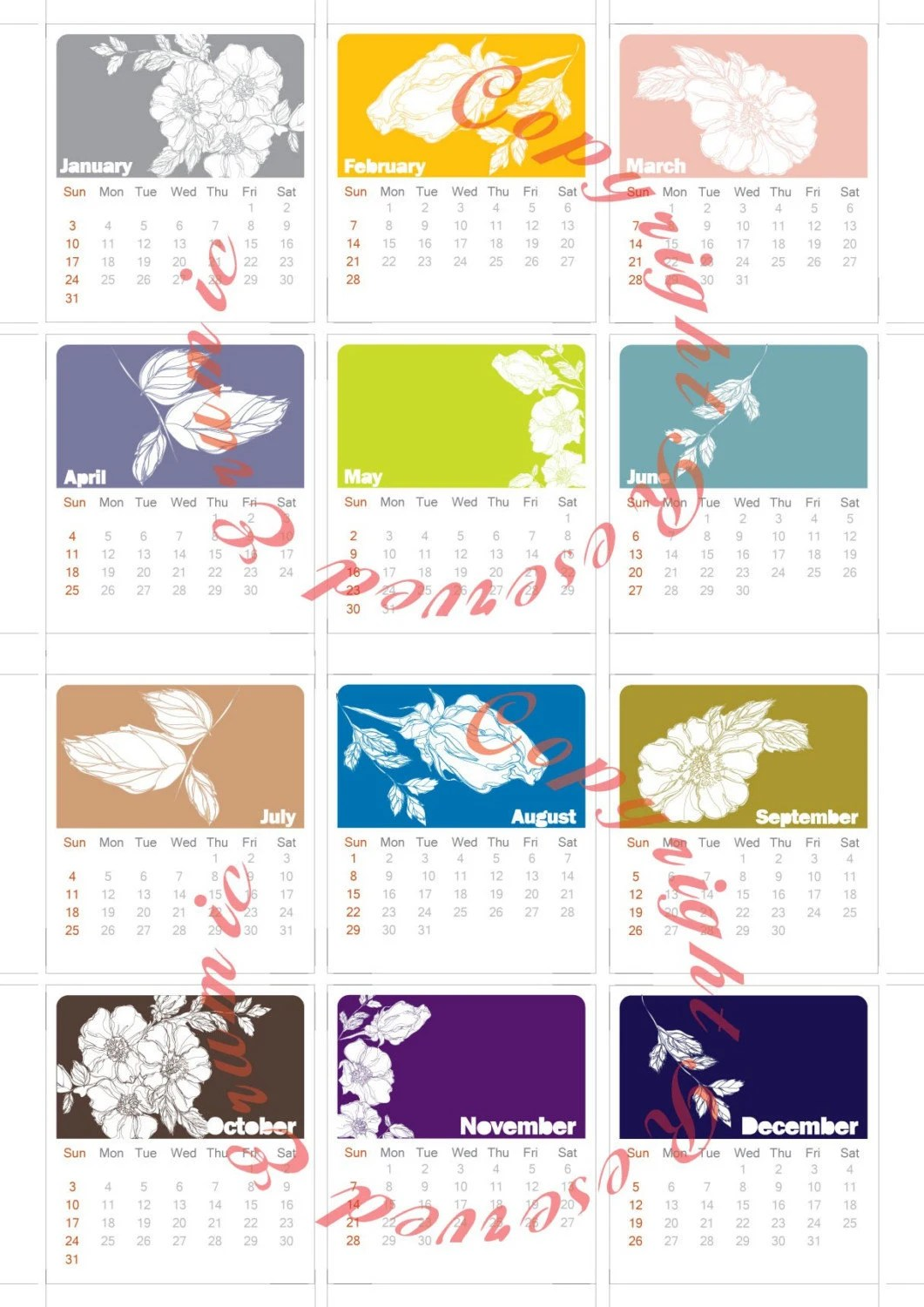 Free Printable Bimonthly Calendar Pages