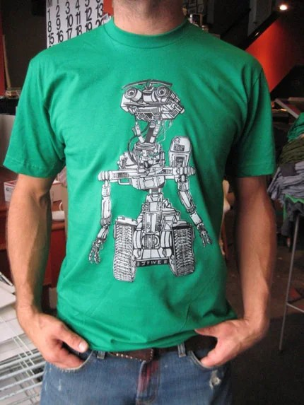 Green J5 Shirt by SlowShirts