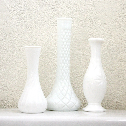 Petite Milk Glass Vase