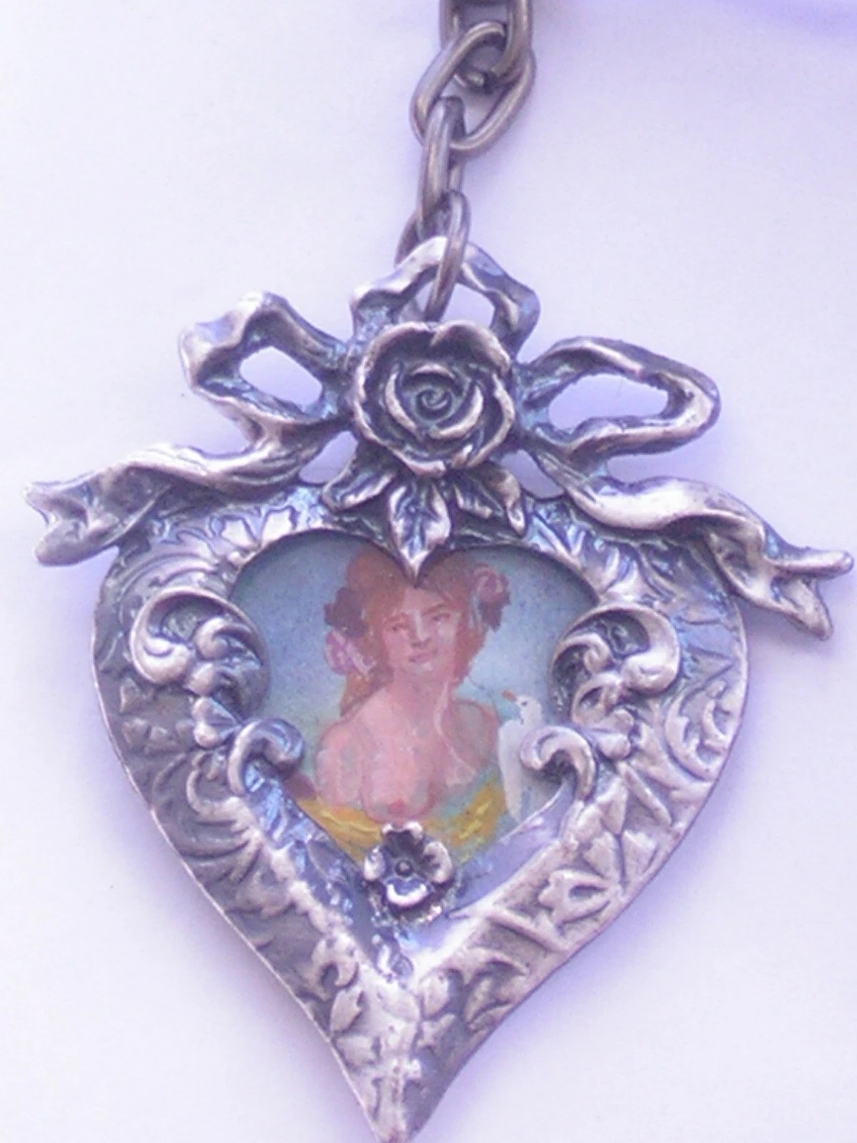 Hand-Painted Love Goddess Pendant Brooch Keychain benefits Family Violence Prevention Fund