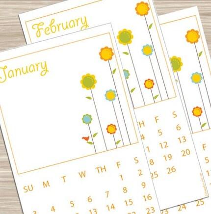 Printable 2010 Calendar - Flowers
