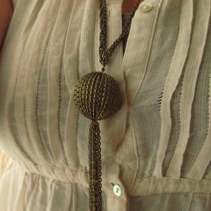 Drama Tassel Chain Necklace