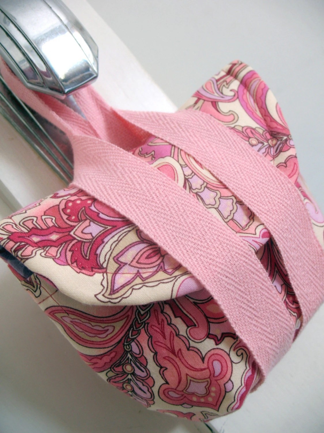 Pink Floral Camera Wristlet by Megnificent Made