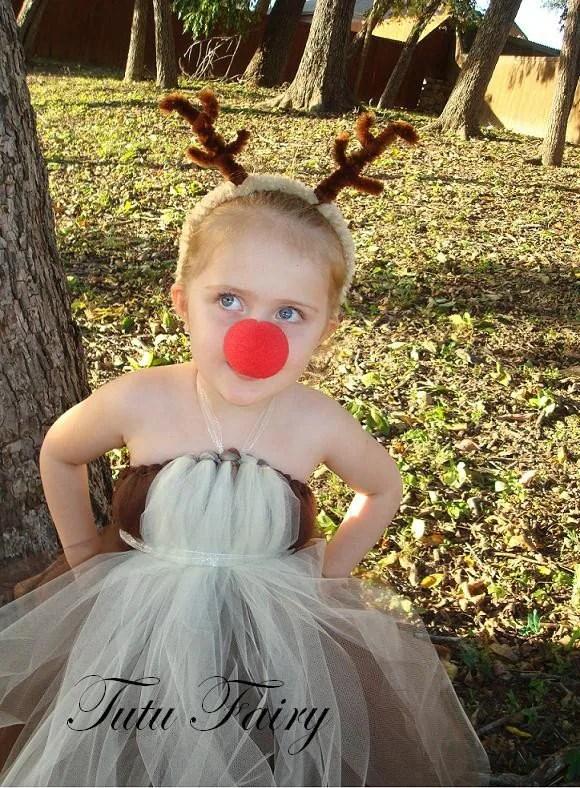 Red Nosed Reindeer Tutu Dress