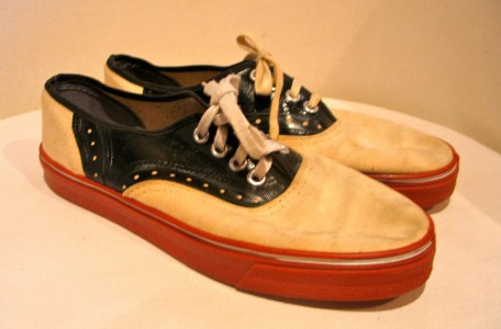 Vintage 1960s Saddle Shoe Canvas Sneakers - SZ 7.5