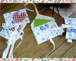 Pack of Shabby Chic Style Fabric Ribbon Tied Envelopes