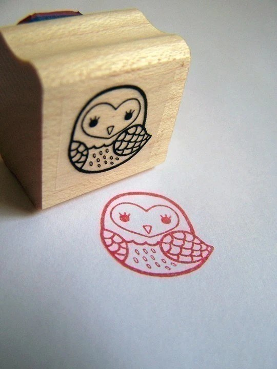 The Light Owl Rubber Stamp