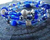 Royal Blue Memory Wire Bracelet