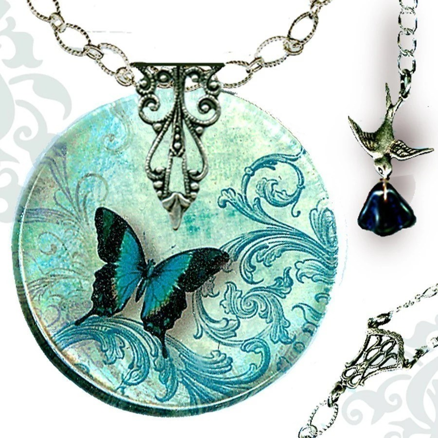 Voyageur - The Alhambra Collection - Teal Flight  of the Butterfly