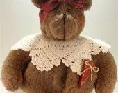 FREE  SHIPPING USA - SALE - Honey Bear with Burgundy Bow Air Freshner Cover
