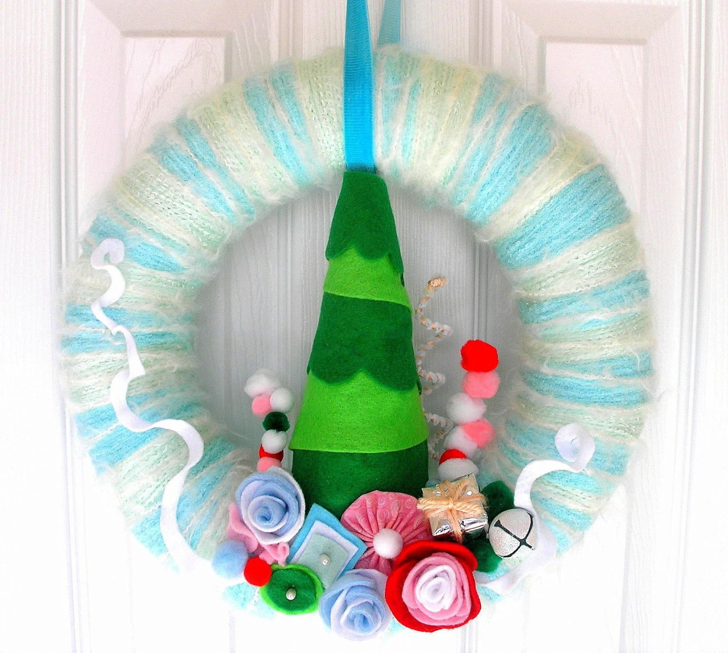 Whoville Yarn Wreath