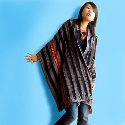 Wild Rose artist patchwork shawl