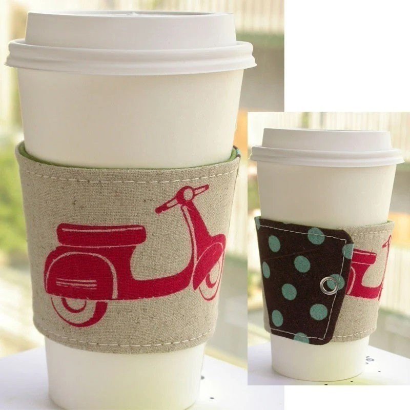 Eco Cup Cozy - Red Scooter