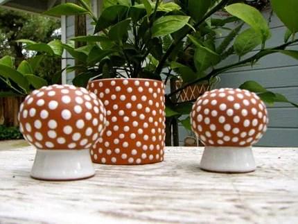 a polka dot mushroom. or two.