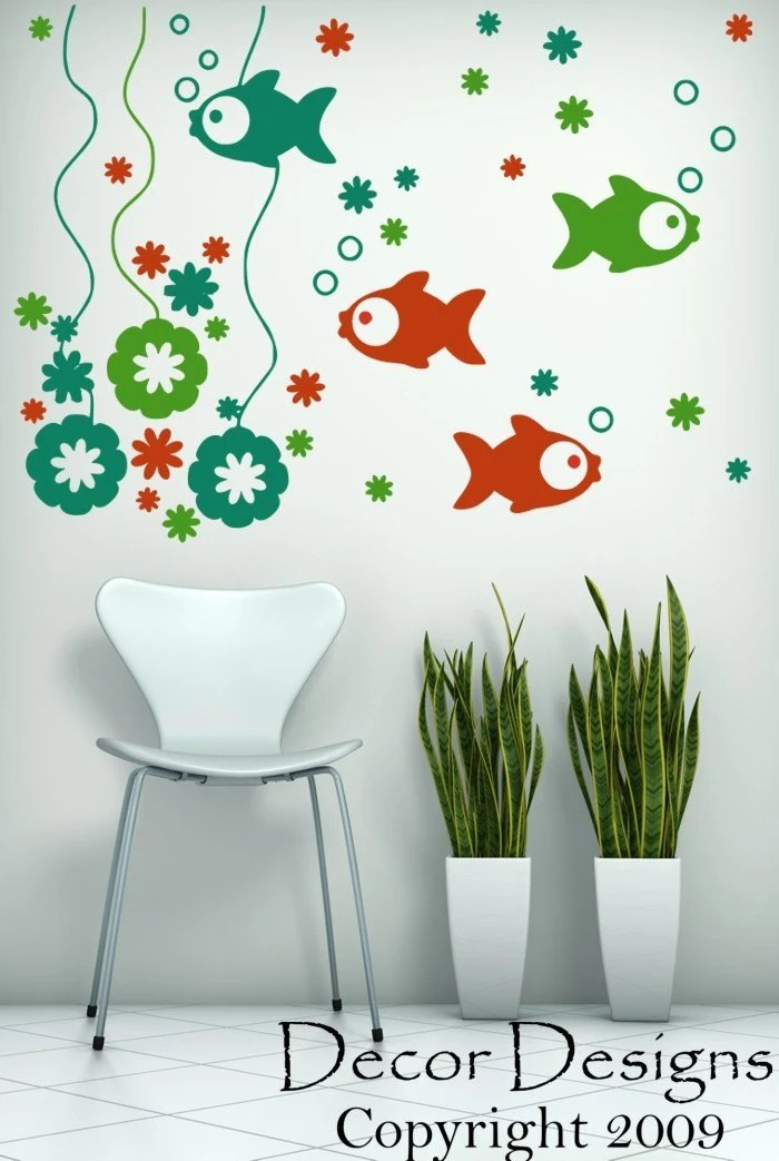 Fishy Scene Wall Decal