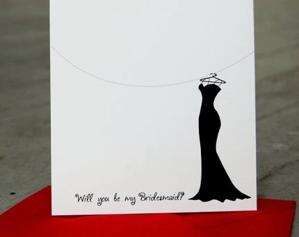 Will you be my Bridesmaid Folded Note Cards