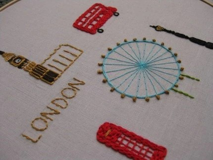 London - embroidery pdf pattern