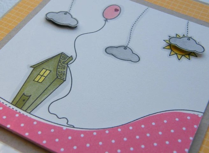 облака на открытке