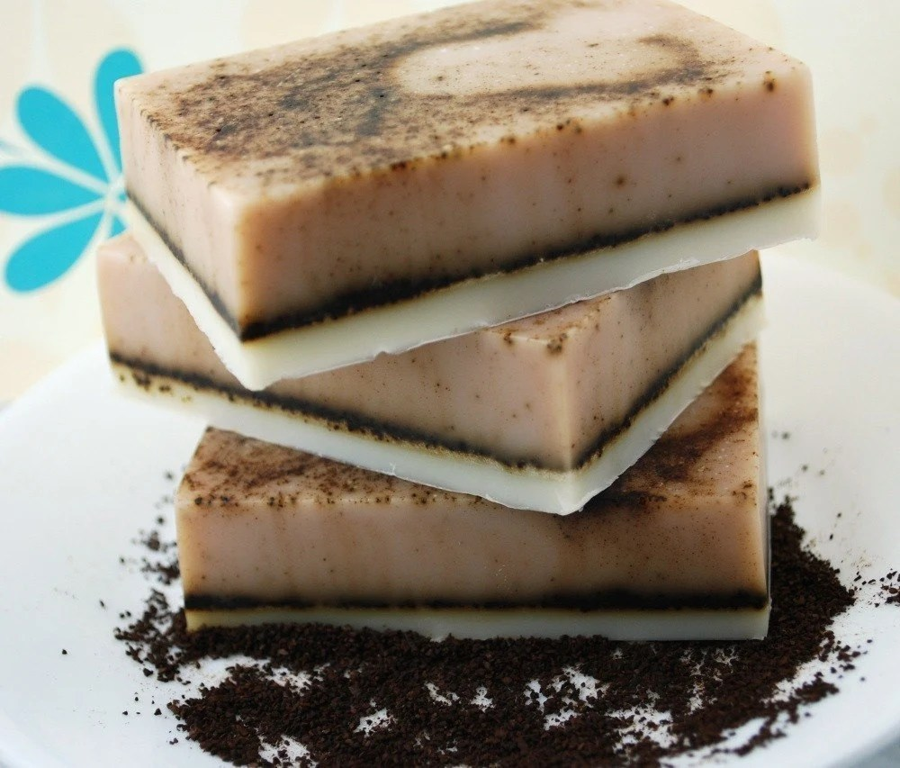 Mocha Latte  Coffee Scrub Natural Glycerin Soap - The Grind