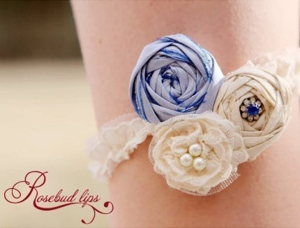 Old, New, Borrowed, Blue Garter Belt by Rosebud Lips