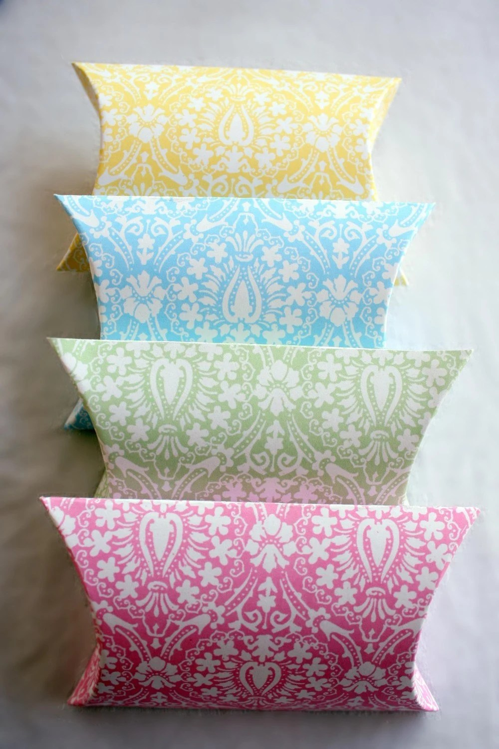 Set of 4  Posh Printables Regal Damask Pastel Collection
