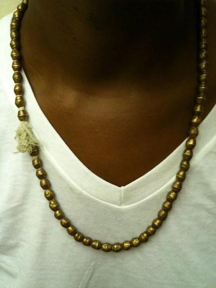 Large Gold tone strung beads