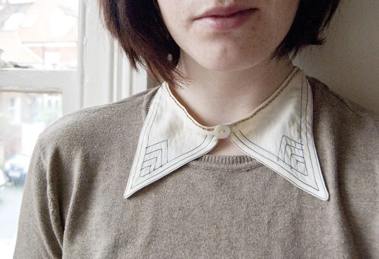 The Schoolmistress - vintage collar necklace